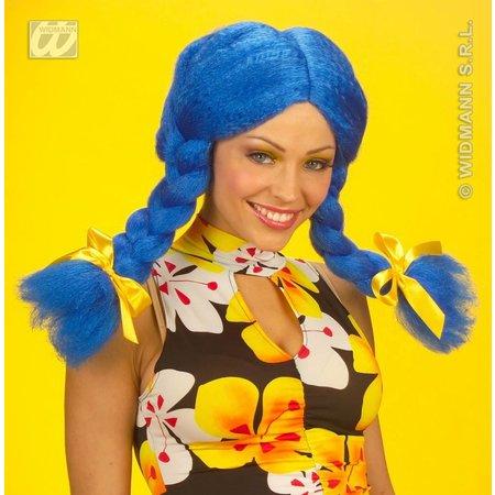 Pruik Dolly blauw