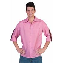 Tiroler blouse roze/wit