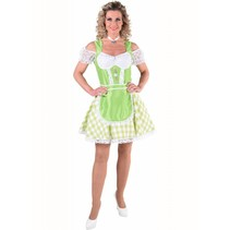 Oktoberfest jurk fluor groen