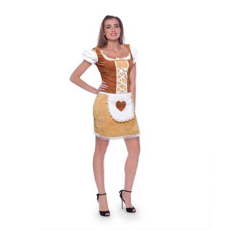 Dirndl jurk classic bruin
