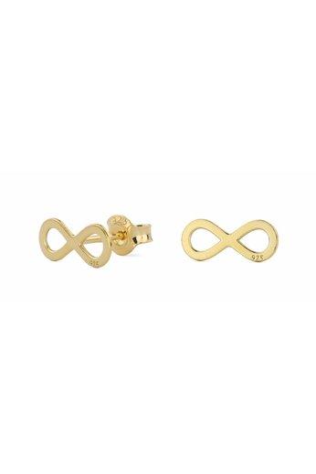 Ohrringe Infinity Ohrstecker - Silber vergoldet - ARLIZI 0862 - Zoe
