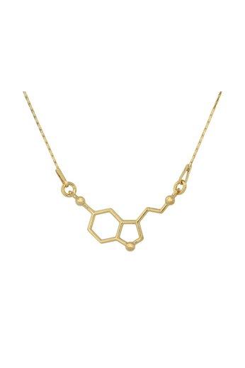 Halskette Serotonin Molekül Anhänger - Sterling Silber vergoldet - ARLIZI 0864 - Kendal