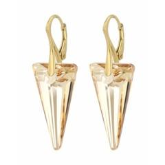 Ohrringe Swarovski Kristall Spike - Silber vergoldet - 0907
