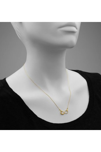 Necklace infinity love pendant - gold plated silver - ARLIZI 0909 - Kendal