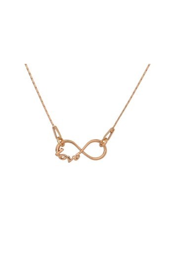 Necklace infinity love pendant - silver rose gold plated - ARLIZI 0910 - Kendal
