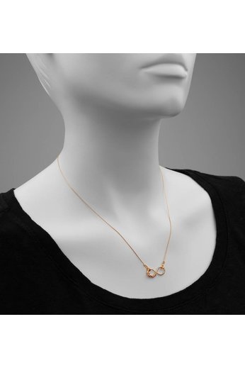 Necklace infinity love pendant - 18ct rose gold plated 925 silver - ARLIZI 0910 - Kendal