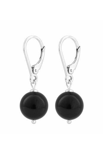 Ohrringe schwarze Perle 10mm - Silber - ARLIZI 0926 - Noa