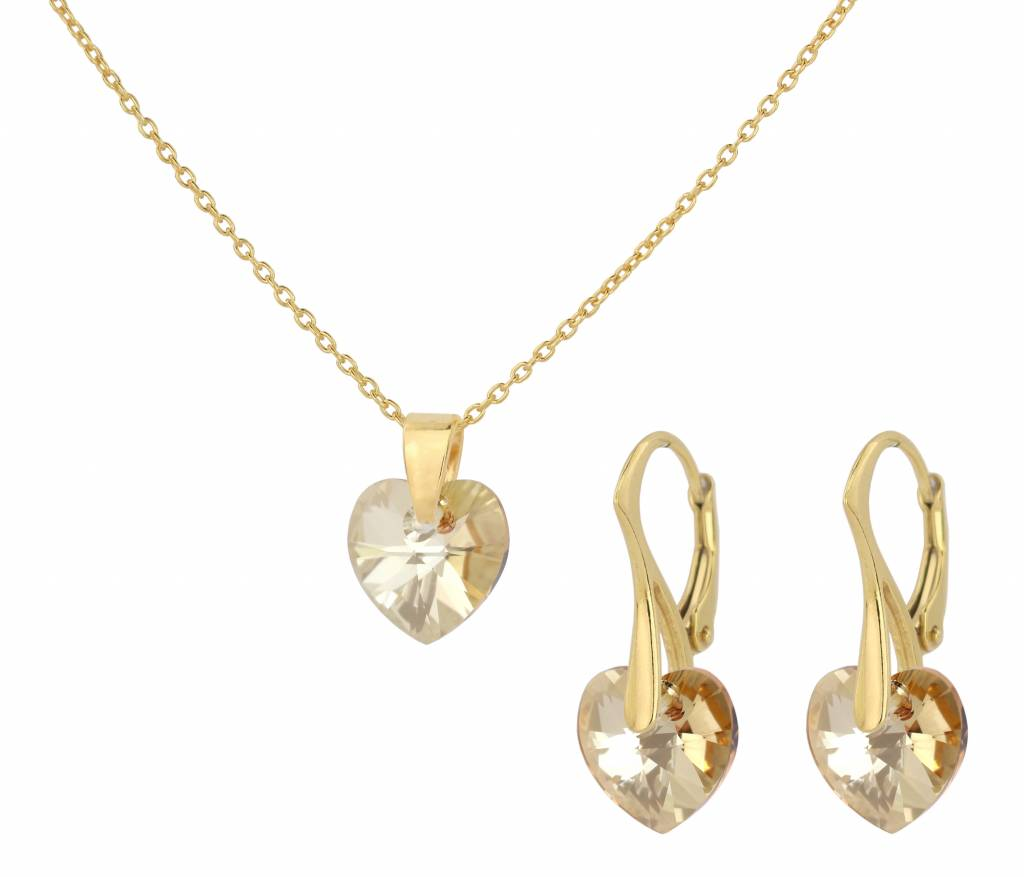 78ea456d07110 Swarovski Heart Earring And Necklace Set - Best All Earring Photos ...