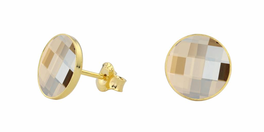 Earrings Swarovski Crystal 925 Silver Gold Plated Arlizi 0988