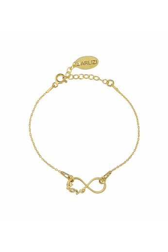 Armband Infinity Symbol - 24K vergoldet 925 Silber - ARLIZI 1048 - Kendal