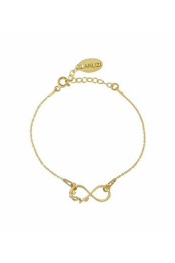 Armband Infinity Symbol - Silber vergoldet - ARLIZI 1048 - Kendal
