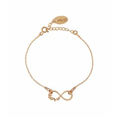 Bracelet infinity symbol - rose gold plated - 1049