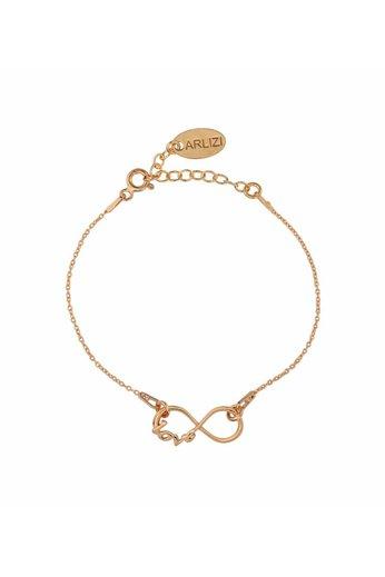 Armband infinity symbool - 18kt rosé verguld 925 zilver - ARLIZI 1049 - Kendal