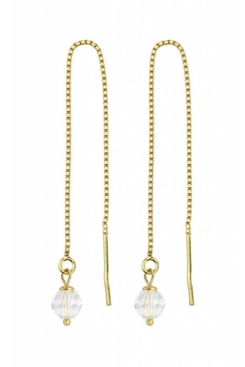 Durchzieher Ohrringe vergoldet Swarovski Kristall - ARLIZI 1063 - Emma