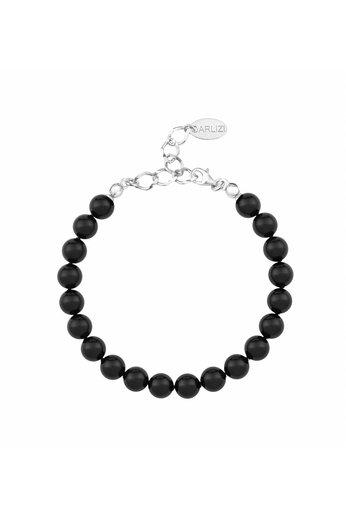 Perlenarmband schwarz - 925 Silber - ARLIZI 1085 - 8mm - Noa