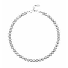 Perlenhalskette grau - 925 Silber - 1160
