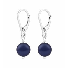 Ohrringe blaue Perle - 925 Silber - 1214