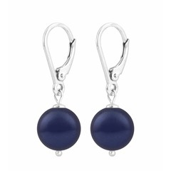 Ohrringe blaue Perle - Silber - 1215