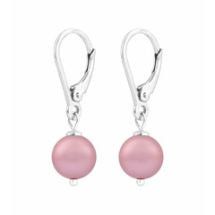 Ohrringe rosa Perle - Silber - 1228