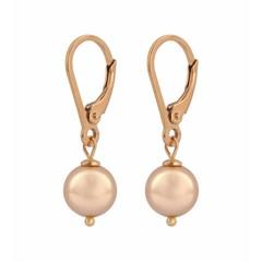 Ohrringe rosé Perle - Silber rosé vergoldet - 1229