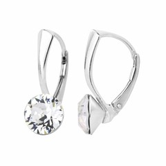 Ohrringe Swarovski Kristall 8mm - Silber - 1251