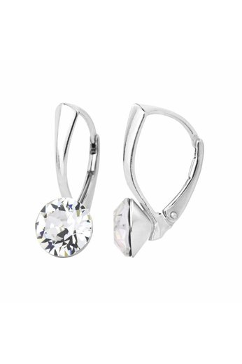 Ohrringe transparent Swarovski Kristall 8mm - 925 Silber - ARLIZI 1251 - Lucy
