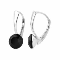 Earrings Swarovski crystal 8mm - silver - 1253