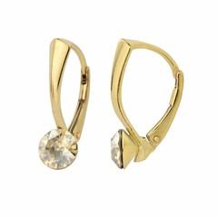 Earrings Swarovski crystal 6mm - gold plated - 1264
