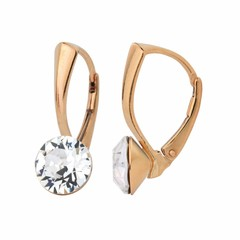 Earrings Swarovski crystal 8mm - gold plated - 1271