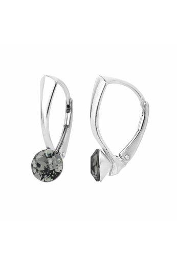 Ohrringe grau Swarovski Kristall 6mm - 925 Silber - ARLIZI 1254 - Lucy