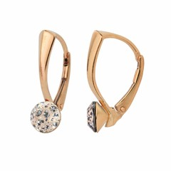 Earrings Swarovski crystal 6mm - rose gold plated - 1278