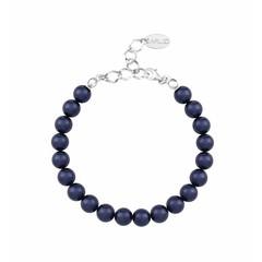 Pearl bracelet blue - silver - 1126