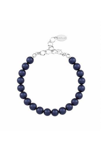 Pearl bracelet dark blue 8mm - sterling silver - ARLIZI 1126 - Noa