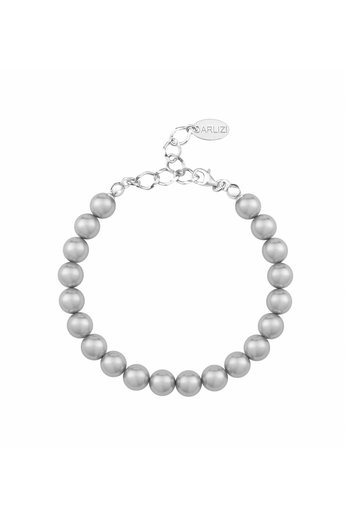 Perlenarmband hellgrau 8mm - Sterling Silber - ARLIZI 1123 - Noa
