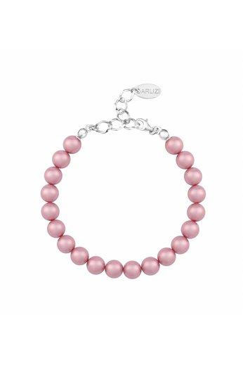 Perlenarmband rosa 8mm - Sterling Silber - ARLIZI 1131 - Noa