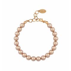 Parel armband rosé - zilver rosé verguld - 1134