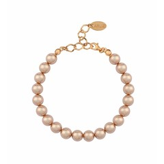 Pearl bracelet rose gold - silver rose gold plated - 1134