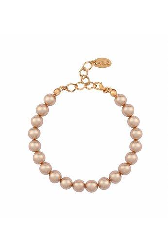 Perle Armband rosé - 925 Silber 18K rosé vergoldet - ARLIZI 1134 - 8mm - Noa