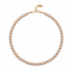 Parelketting rosé 8mm - zilver rosé verguld - 1174