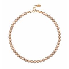 Perlenhalskette rosé - Silber rosé vergoldet - 1174