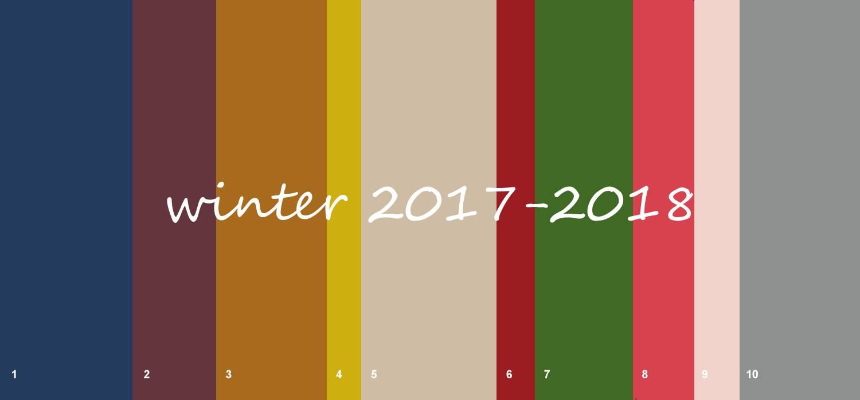 Top 10 modekleuren winter 2017-2018