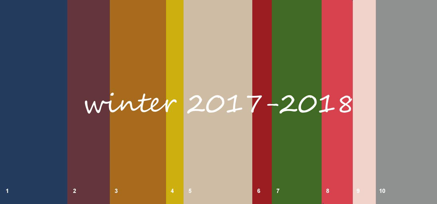 What are the fashion colours for winter and fall 2017-2018
