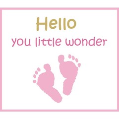 Greeting card - baby girl