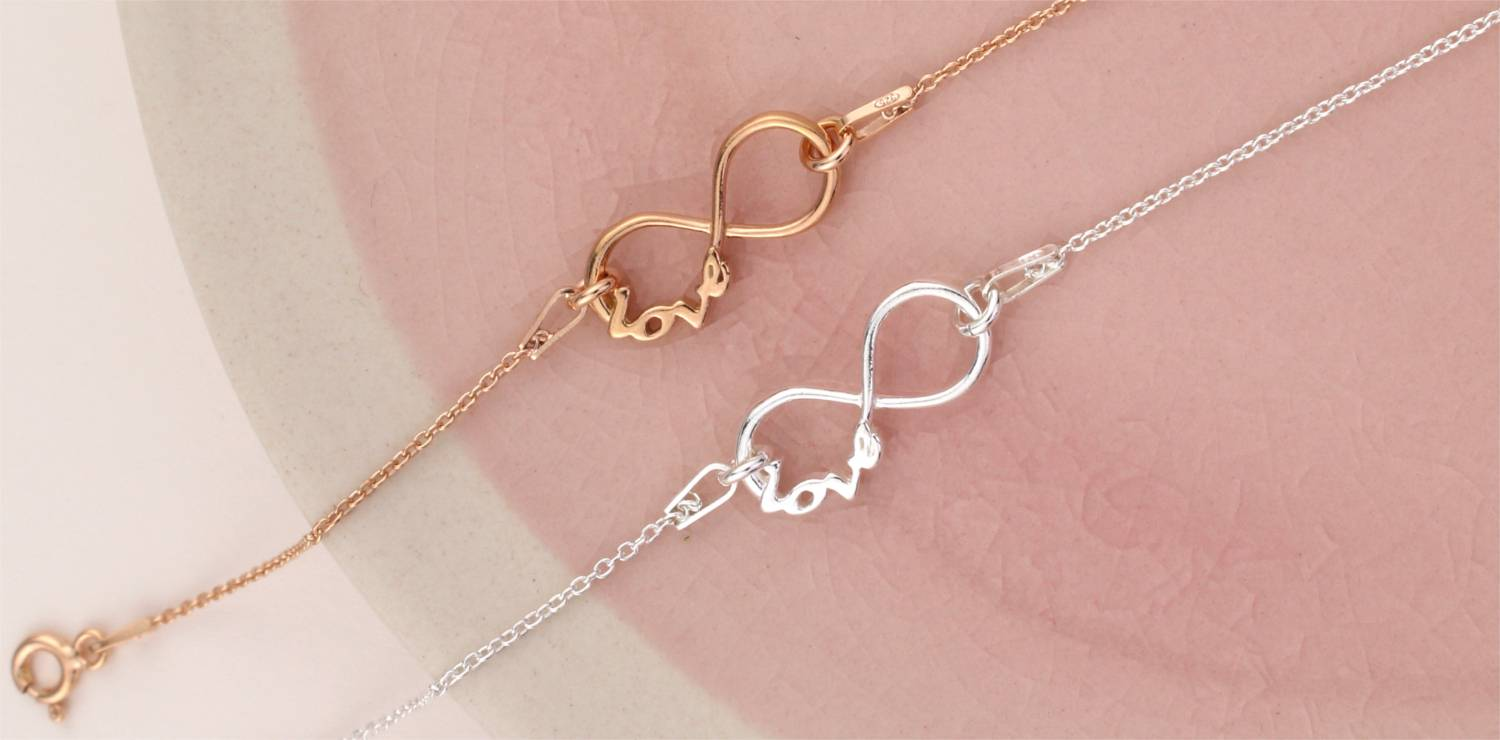 Infinity jewelry - symbol of eternal love