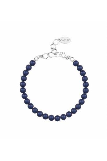 Pearl bracelet dark blue 6mm - sterling silver - ARLIZI 1144 - Noa