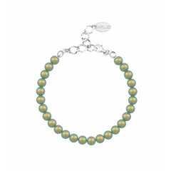 Pearl bracelet green 6mm - silver - 1150
