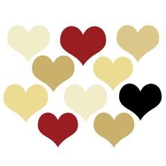 Wunschkarte - Herzen - Love