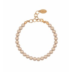 Pearl bracelet 6mm - silver rose gold plated - 1152