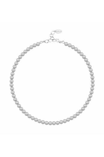 Perlenhalskette hellgrau 6mm - Silber - ARLIZI 1183 - Noa