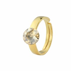 Ring Swarovski crystal - gold plated silver - 1301
